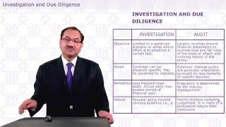 ADVANCED AUDITING AND PROFESSIONAL ETHICS - INVESTIGATION & DUE DILIGENCE