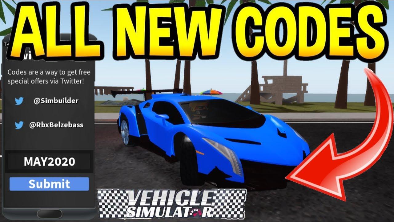 Vehicle Simulator New Codes June Codes Roblox Youtube