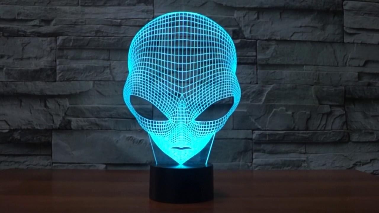 Superb Alien 3d Lamp