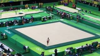Simone Biles FX TF Olympic Games Rio 2016