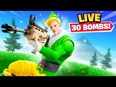 Fortnite Solo Squad 30 Bombs *LIVE* thumbnail