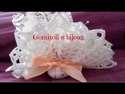 Molto Bomboniera di pizzo all'uncinetto - Gomitoli e bijoux - YouTube ES83