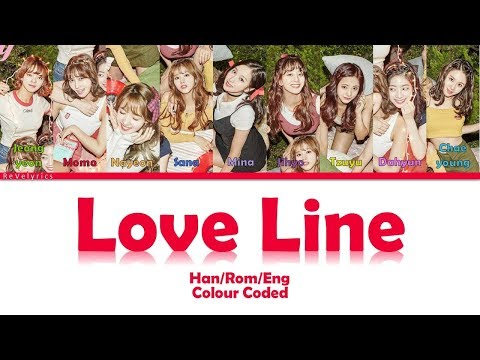 TWICE (트와이스) LOVE LINE LYRICS (Han/Rom) COLOUR CODED