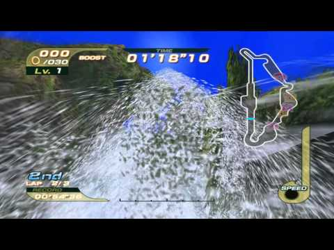 Sonic Riders (GC) Super Sonic on All Tracks