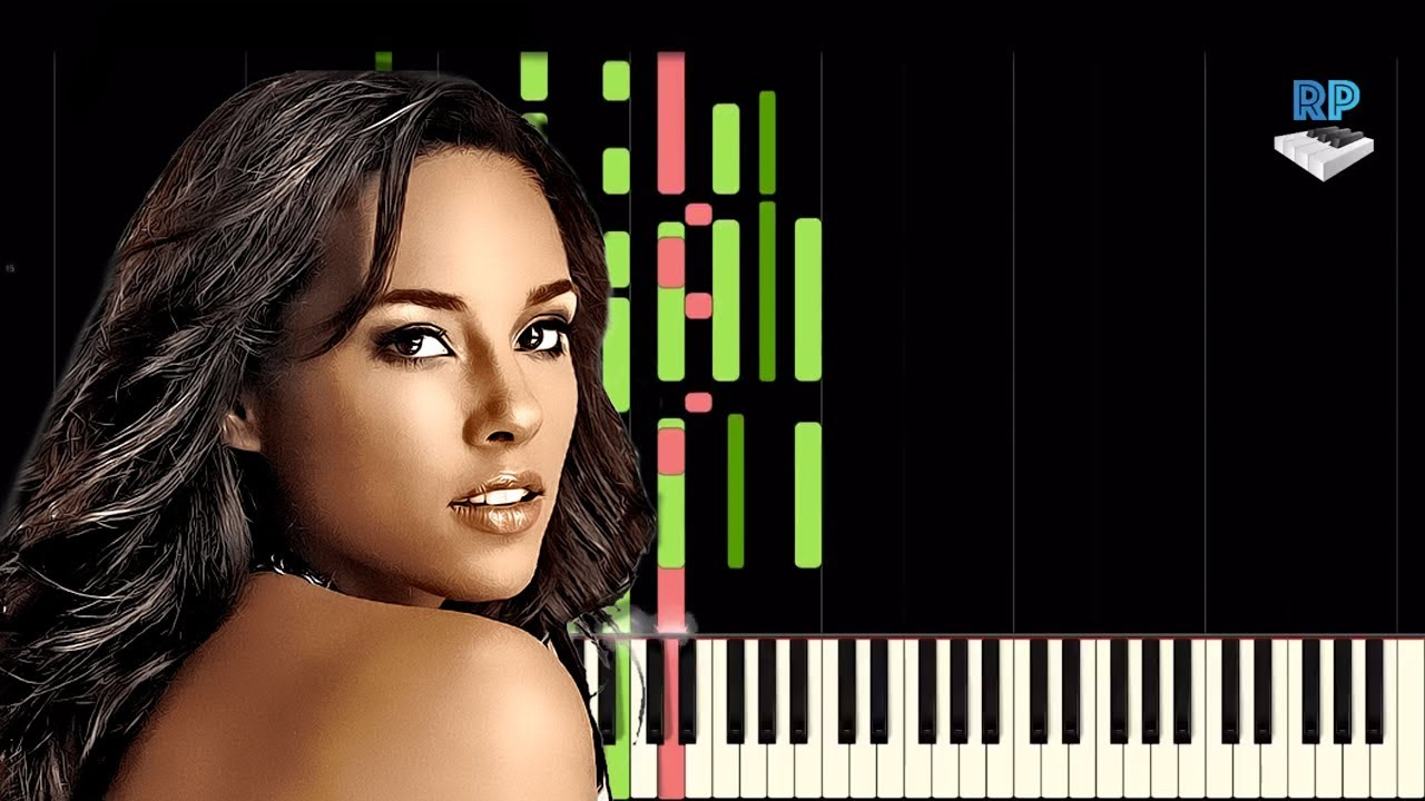 Alicia Keys If I Ain T Got You Synthesia Piano Tutorial Youtube
