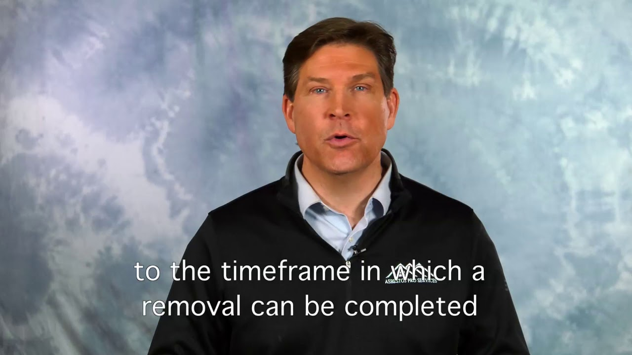 How long does it take to Remove Asbestos - YouTube