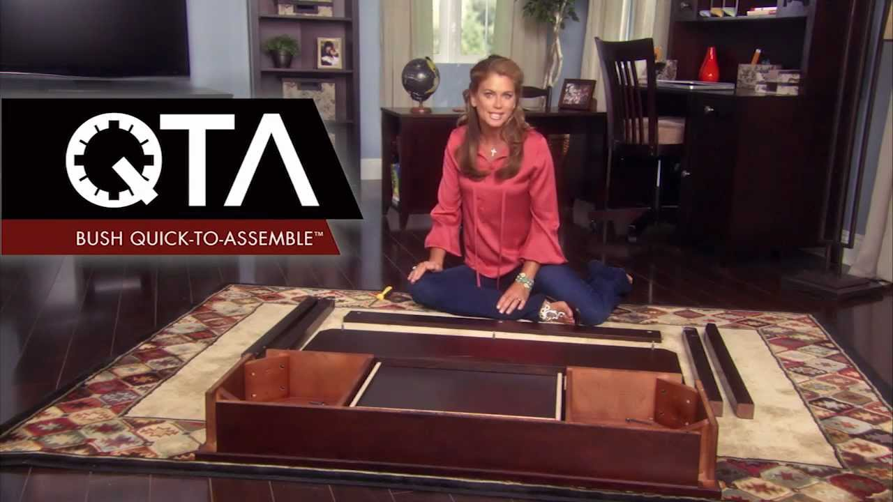 Quick To Assemble By Kathy Ireland, Office Bush Furniture   YouTube