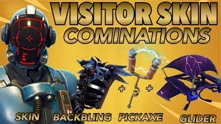 LE VISITOR SKIN BEST BACKBLING - SKIN COMBOS! (Peau de blockbuster) (Fortnite Battle Royale) (2018)