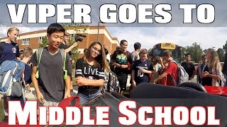 Getting Picked Up From Middle School In A Dodge Viper Supercar!!