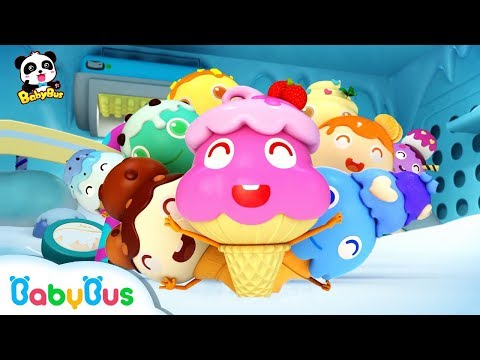 Learn Colors with Ice Cream  Color Song  Nursery Rhymes  Kids Songs  Learn Fruits  BabyBus