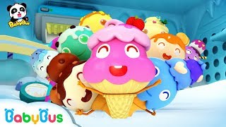 Learn Colors with Ice Cream | Color Song | Nursery Rhymes | Kids Songs | Learn Fruits | BabyBus