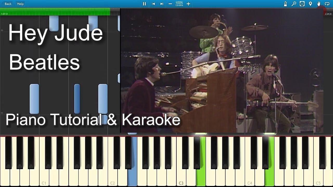 Hey Jude Beatles Piano Tutorial Guitar Chords Sheet Youtube