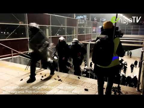 """Policja brutalnie wyrzuca dziennikarzy ze """"strefy działań"""""""