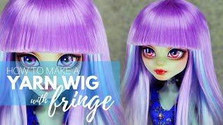 How to Make a Doll Wig | Basic with Fringe | Mozekyto # 1