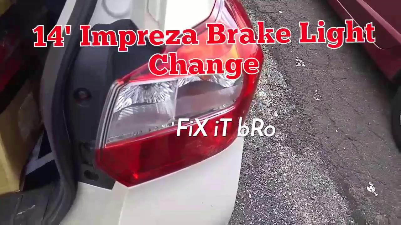 2017 Impreza Brake Light Change