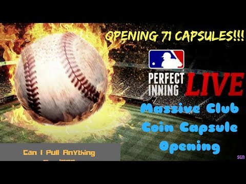 MLB PIL - Massive Club Coin Capsule Opening! - 71 Capsules - Can I Get Anything Good?