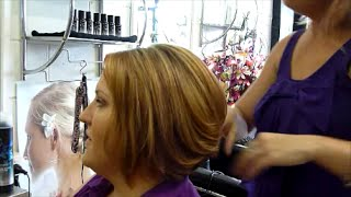 Create volume for fine hair, round brush blow dry