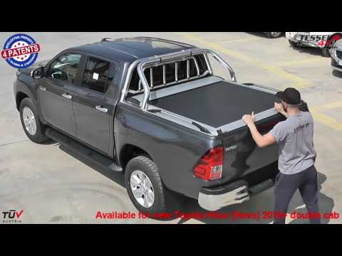 At www.accessories-4x4.com: New Toyota Hilux Revo 2016 4x4 roller lid cover off road accessories