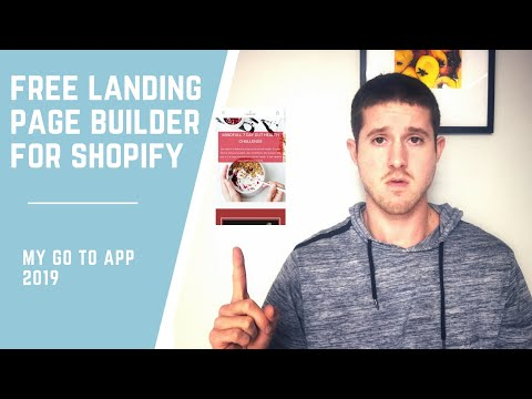 How to Build Free Landing Pages For Shopify | Tutorial 2019