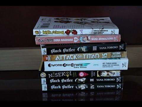 Manga Haul 1 (Nisekoi, Black Butler, Attack on Titan and many more)