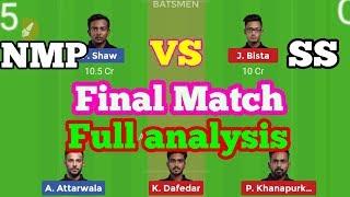 NMP vs SS Dream 11   North Mumbai Patthar vs SoBo Supersonics in Mumbai T20 League final