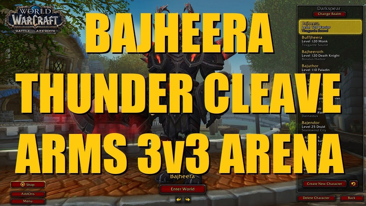Repeat Bajheera - Arms Warrior 3v3 as Thunder Cleave to 2100+ (Part