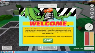 Winning the Kid Choise awars 2018 awards Roblox Live