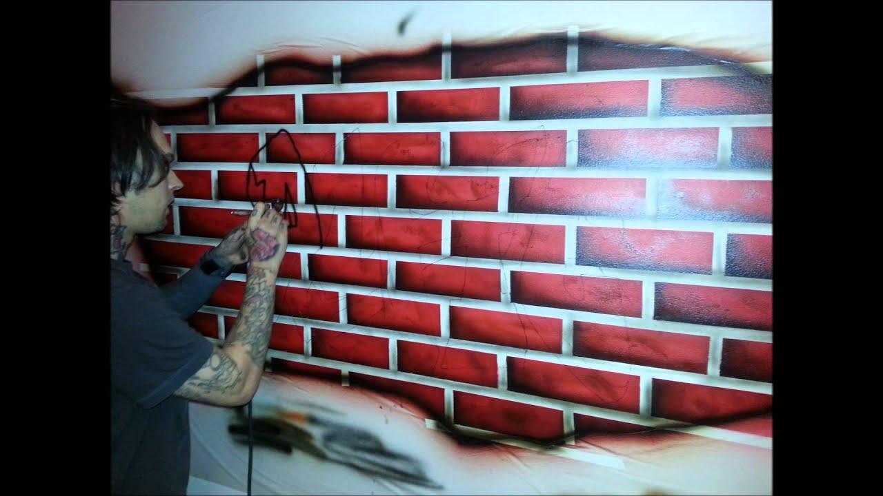 Grafiti wall red - Airbrushed Graffiti Wall Mural By Epic Artworks