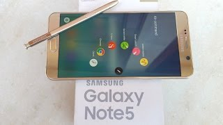 Samsung Galaxy Note 5 (Gold) - Unboxing & First Look!
