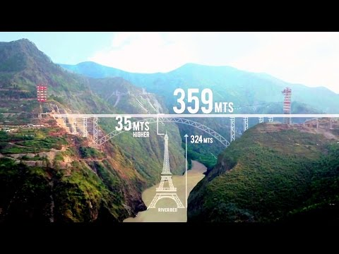 Construction of World's Highest Railway Bridge!! Chenab River Bridge (Kashmir)! AFCONS' Documentary!