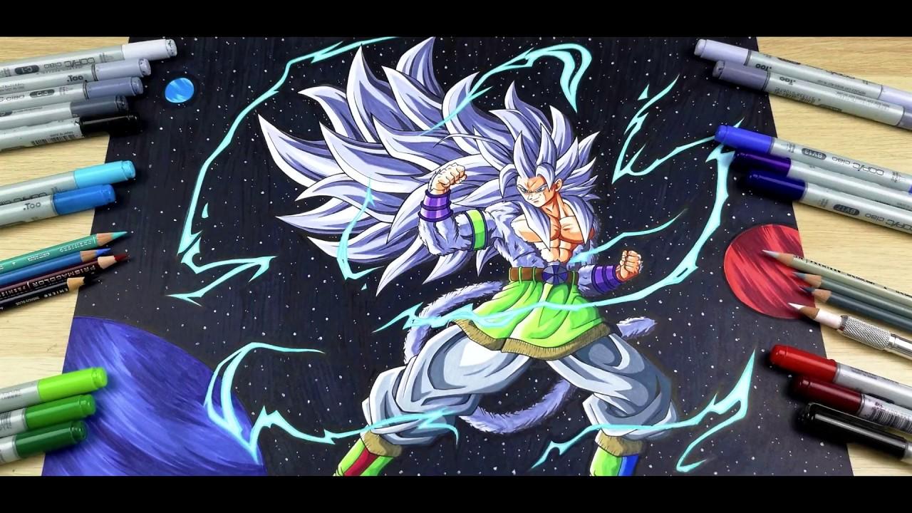 Drawing Goku Super Saiyan 5 In Space Tolgart