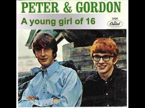 """PETER AND GORDON   """"A YOUNG GIRL"""" (of 16)"""