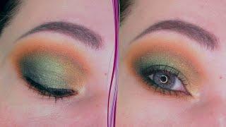 Изумрудный терракотовый макияж глаз в стиле смоки айс Пошаговый урок