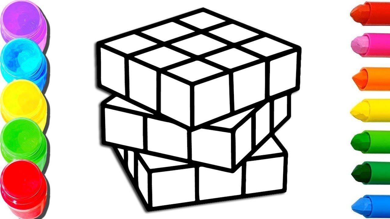 картинки кубиками рисовать отдыхающих
