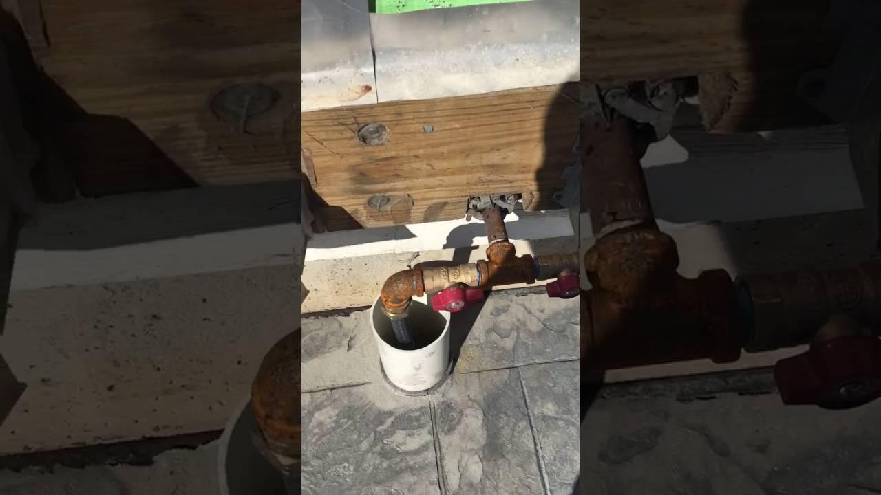 Gas Line Under Patio Uncapped Youtube