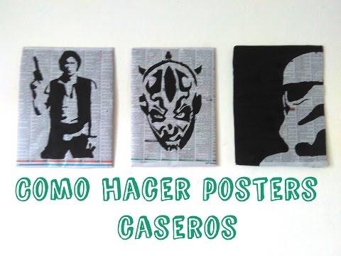 Tutorial ||Como Hacer Posters Caseros De Star Wars || Rapido Y Barato