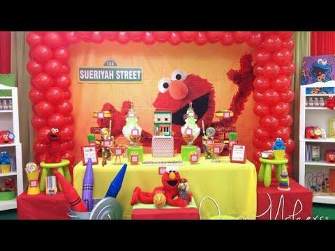 Fiesta de elmo party 2018 boysgirls fiestas infantiles for Decoracion de mesas dulces infantiles