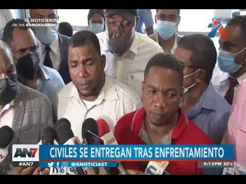 Civiles involucrados en enfrentamiento se entregaron