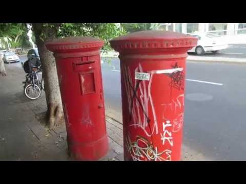 Tel Aviv, Israel - two mandatory mailboxes set by the British and is still used by the Israel Postal