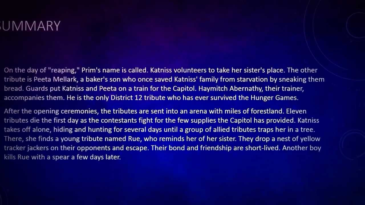 a brief summary of the hunger games