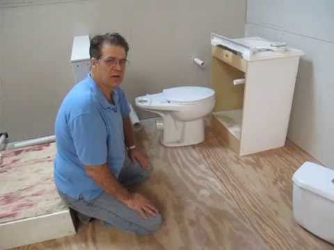 How To Install  Basement Toilet Hidden Plumbing In Less Than 2 Minutes