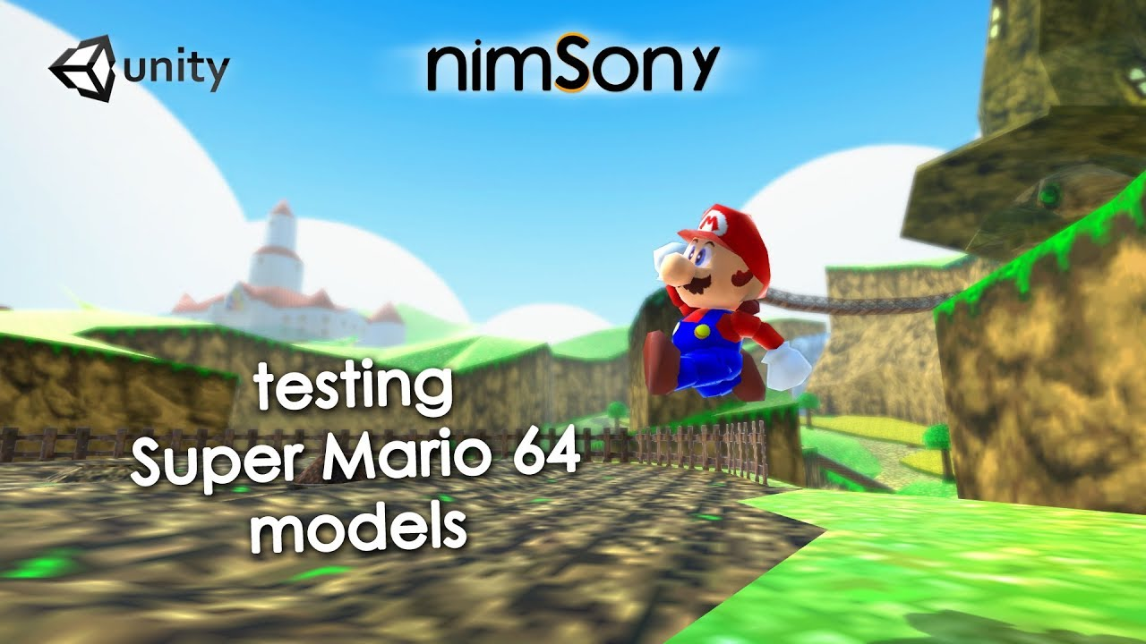 If I made a SUPER MARIO 64 Remake - Testing models in Tubby Super Cat