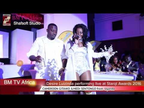 Desire Luzinda alaze ekitone Medi Sentongo ne Cameroon Gitawo  ku Starqt awards eSouth Africa