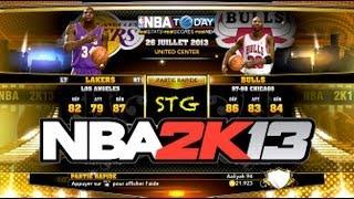 NBA 2K13 Los Angeles Lakers 1999 2000 VS Chicago Bulls 1997 1998