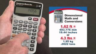 Construction Master Pro DT Dimensional Math and Conversions How To