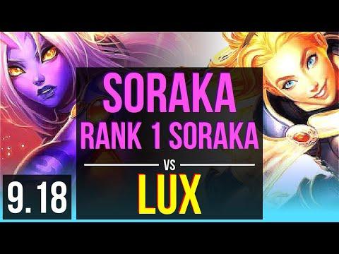 SORAKA & Lucian Vs LUX & Twitch (SUPPORT) | Rank 1 Soraka, Rank 19 | JP Challenger | V9.18