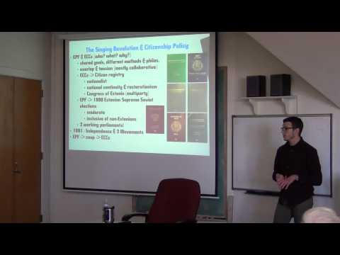"Brownbag: ""Estonian Citizenship Policy"" -David Trimbach, KU Geography (2/19/2013)"
