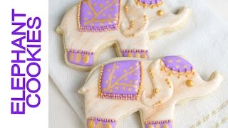 Elephant Cookies, How To Create Natural Marble Effect On Cookies