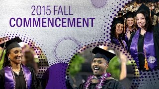 2015 Fall Commencement: Oct 16 at 5pm