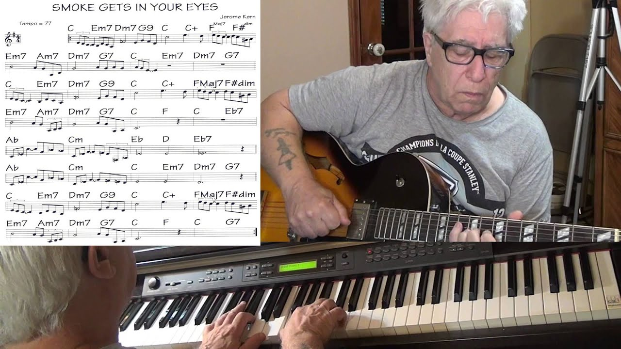 Smoke Gets In Your Eyes Guitar Piano Jazz Cover Jerome Kern
